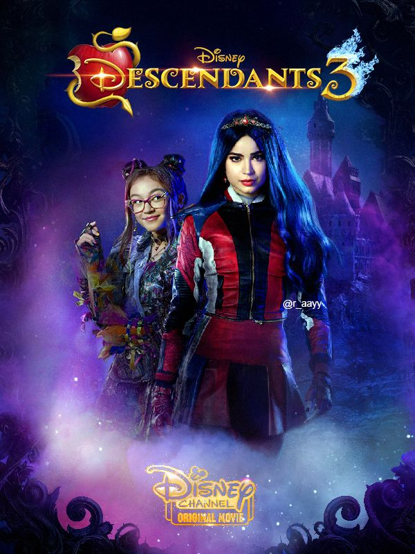Descendants 3 Poster V2 Evie And Dizzy Fanart By Raayb On Deviantart Disney Channel Descendants Descendants Decendants