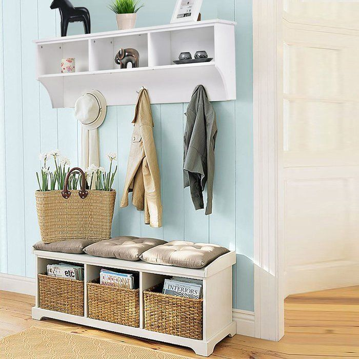 Luz Entryway Wall Mounted Coat Rack 1000 In 2020 Entryway Storage Entryway Decor Small Hallways
