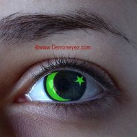 Moon and Star Halloween Contact Lenses - Demon Eyez - Halloween Contact Lens Store