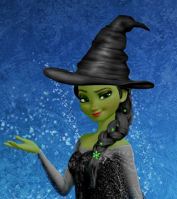 Idina Menzel played Elphaba in Wicked and Elsa in Frozen!!! Just ELSABA!!!!