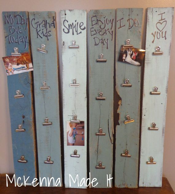 Rustic Photo Clip Photo Holder! These fun photo hangers are one of the most popular items at all McKenna Made It events! Available in a