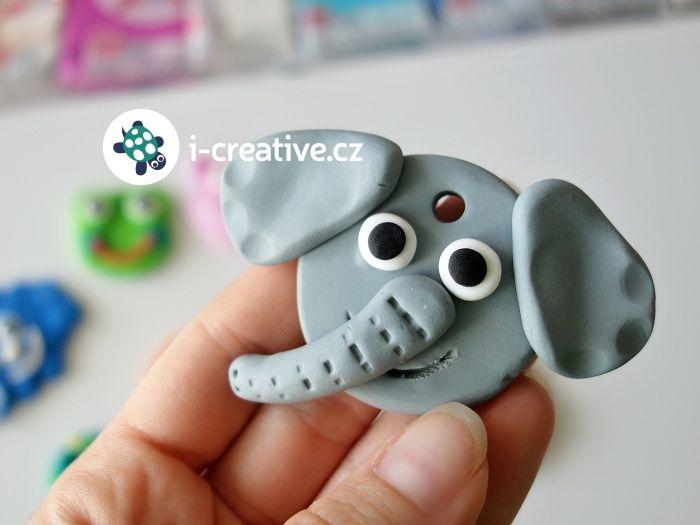 modelování zvířátek - hlava slona