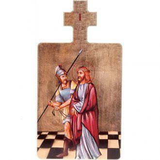 Cuadros estaciones Vía Crucis 15 piezas madera
