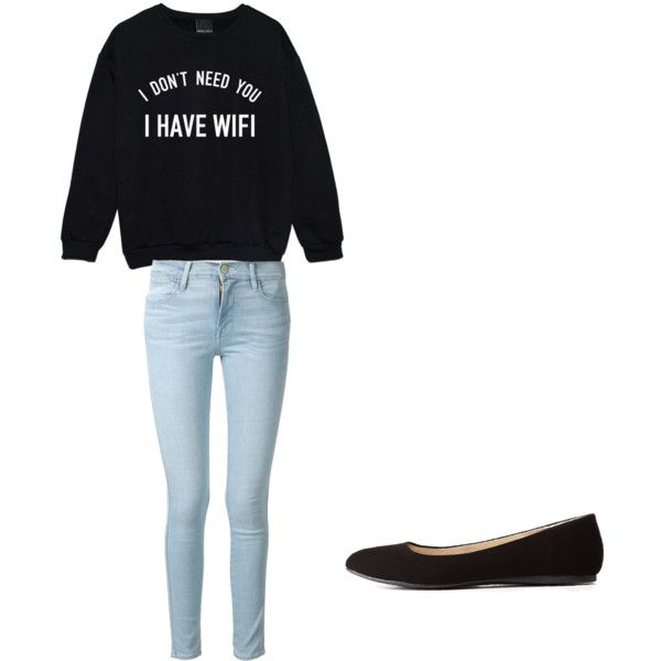 Seventh grade by haileynwmg on Polyvore featuring polyvore fashion style Frame Denim Charlotte Russe