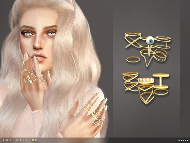 Sims 4 CC's - The Best: toksik - Euphoria Rings