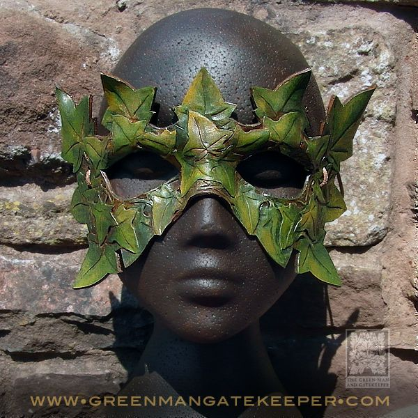 Ivy Leaf Man Mask ·  Handmade in the Ancient Forest of Dean Hand formed and coloured leather  - £70