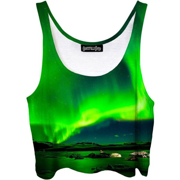 Perfect Summer Concert Shirt Bright Green Crop Top Aurora Borealis... ($40) ❤ liked on Polyvore featuring tops, crop tops, grey, women's clothing, wrap crop top, gray crop top, bright green shirt, summer tops and wrap shirt