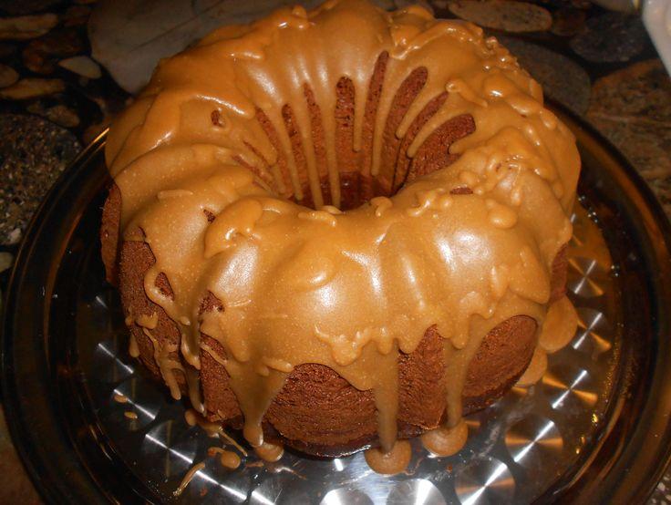 Southern Peach Moonshine Cake