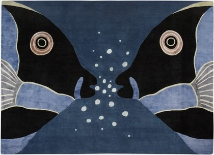 'Parrot Fish' bespoke hand-knotted rug by Deirdre Dyson. Snorkelling anyone?!
