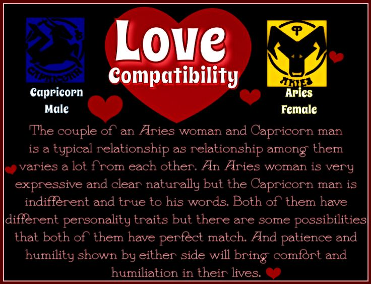Aries female and capricorn male