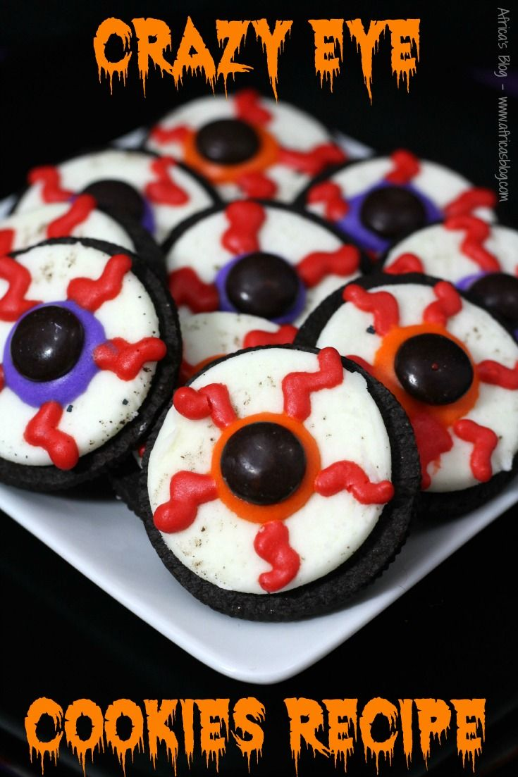 Celebrate Halloween with these Crazy Eye Cookies!! They'll be the hit of your Halloween gatherings!! #Recipe