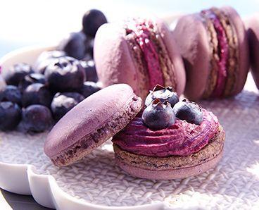 Rezept: Heidelbeer-Macarons