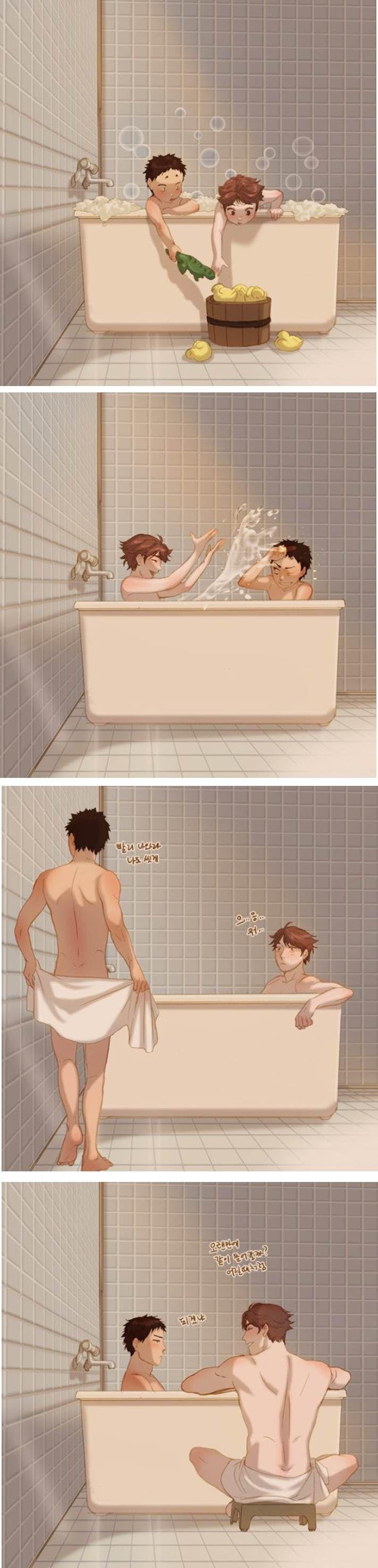 Oikawa x Iwaizumi - Bathtime =)