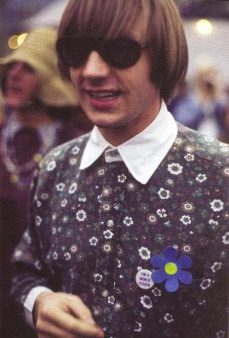 Peter Tork was there all weekend at Monterey Pop along with many others in music. Peter introduced Buffalo Springfield and  Lou Rawls and signed a lot of autographs that weekend  - The Monkees didn't preform at Monterey Pop - the promoters could not get arrangements together with ScreenGems in time for them to appear.