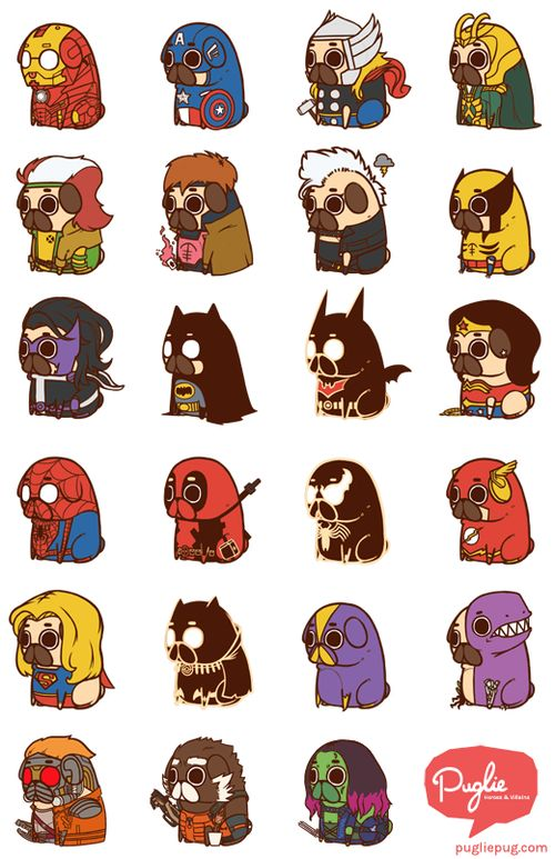 SuperPugs by puglie (https://weheartit.com/entry/146050372)