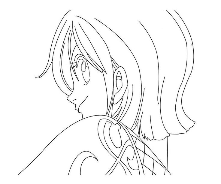 printable one piece nami face coloring pages for kids