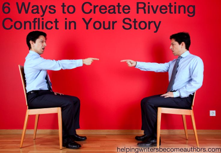 Just in case you're feeling stumped on how to create conflict in your story, here are a few suggestions.