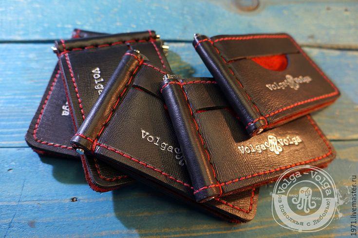 Купить Зажим для купюр и карт - 2 - комбинированный, зажим для купюр, зажим для денег, кожаный кошелек