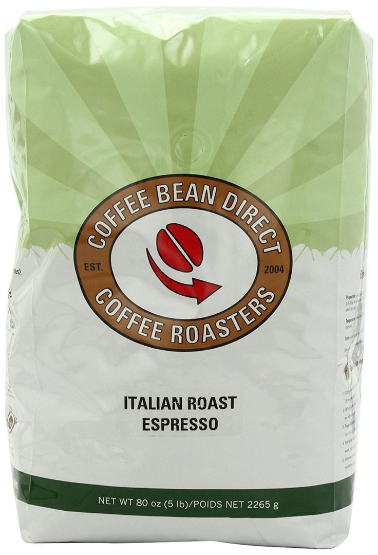 Coffee Bean Direct Italian Roast Espresso, Whole Bean Coffee, 5-Pound Bag >> Save this wonderfull product : Fresh Groceries