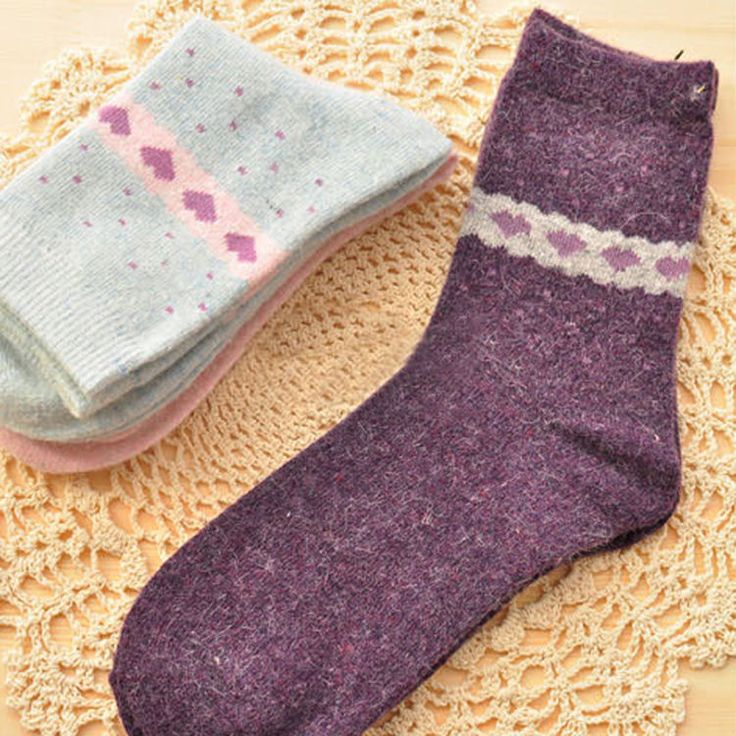 Sweet Warm Fawn Love Heart Flower socks