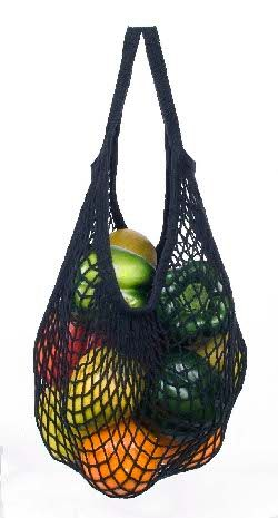 ECOBAGS Classic String Bag Black Organic Tote - ECOBAGS.com