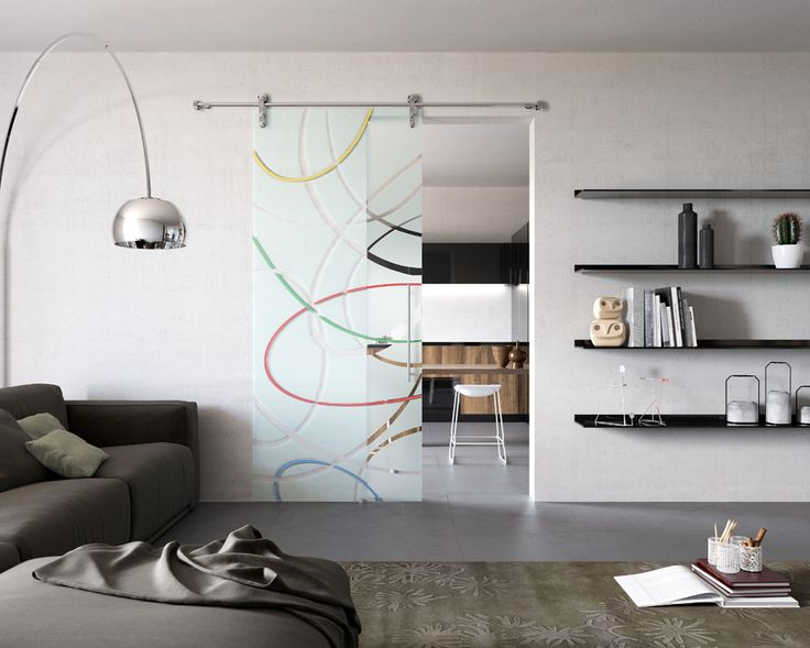 "Sistema scorrevole inox ""SV 120""  Anta singola scorrevole esterno parete  Mod.CURVE Colore_Collezione SCAVO COLORE  ""SV 120"" stainless steel sliding system  Single sliding door outside wall Mod.CURVE Colore_SCAVO COLORE Collection di #MRartdesign"
