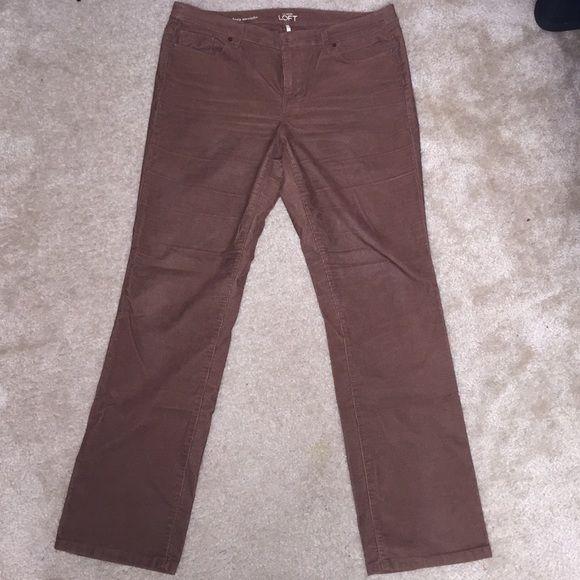 Ann Taylor Loft 14/32 brown corduroys Brown corduroys from Ann Taylor Loft. Size 14/32 Modern straight. Never worn, new without tags ;) Ann taylor loft Pants Straight Leg