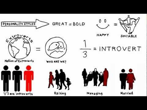 """The Power of Introverts - Ep 1 - Susan Cain - YouTube  This is a quick summary of Susan Cain's """"Quiet"""". The first part gives a quick introduction to the difference between introvert and extrovert and quickly distinguished between shyness and introversion."""