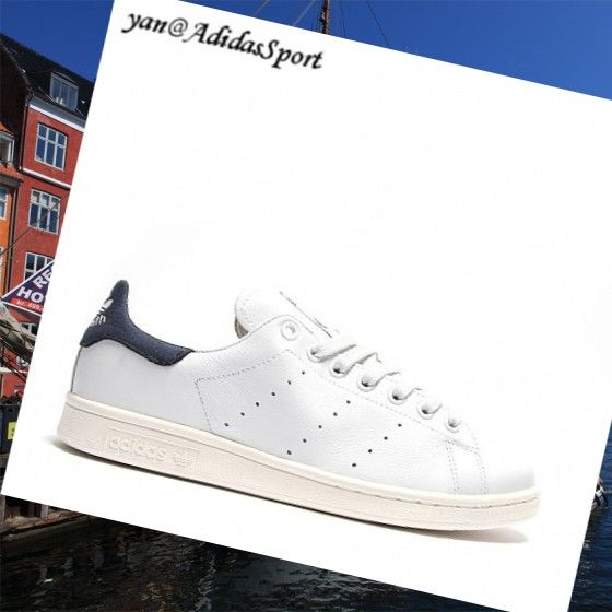 -Adidas Originals Navy White Neo Stan Smith Men Leather Shoes HOT SALE! HOT PRICE!