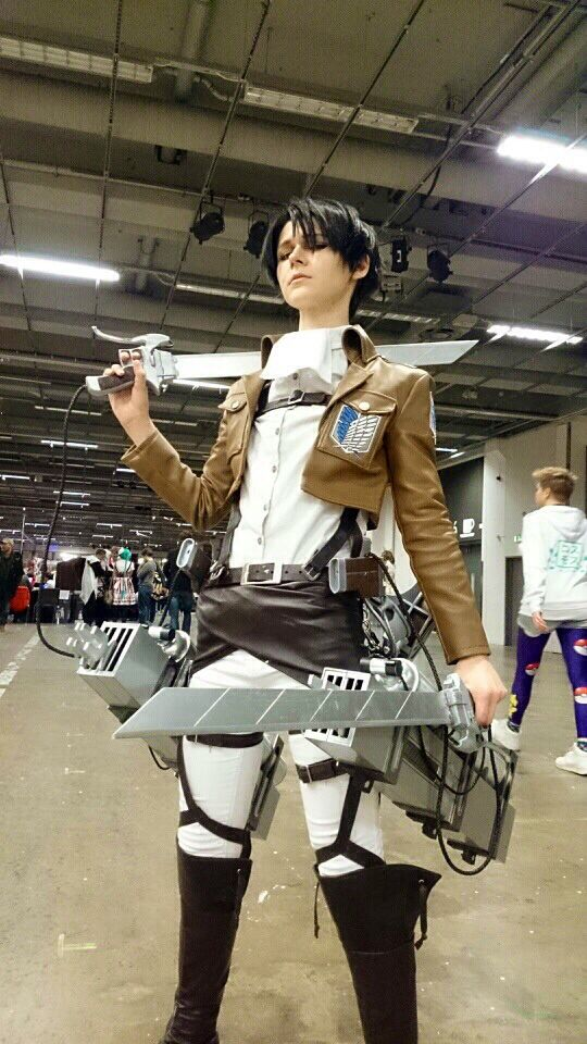 My Levi cosplay I had on confusion 2014. I'm put a lot of work into it and am really pleased with how it turned out.
