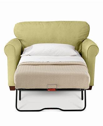 Sasha Sofa, Twin Sleeper - Chairs & Recliners - furniture - Macy's