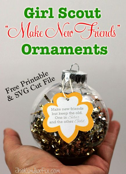 Homemade Christmas Ornaments For Girl Scouts : B?sta make new friends id?erna p? girl