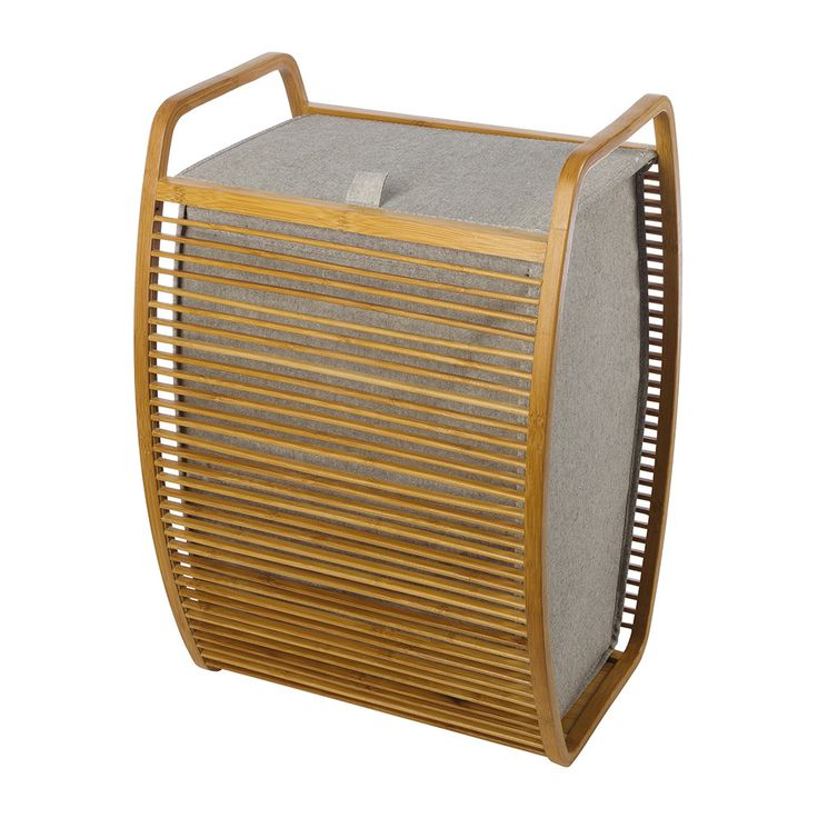 Discover the Moeve Bamboo Laundry Basket - Bamboo/Canvas at Amara