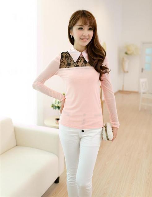 Blouse Import Kombinasi Brokat Pink ini bisa dipesan di Toko Online kami selama persediaan masih ada...