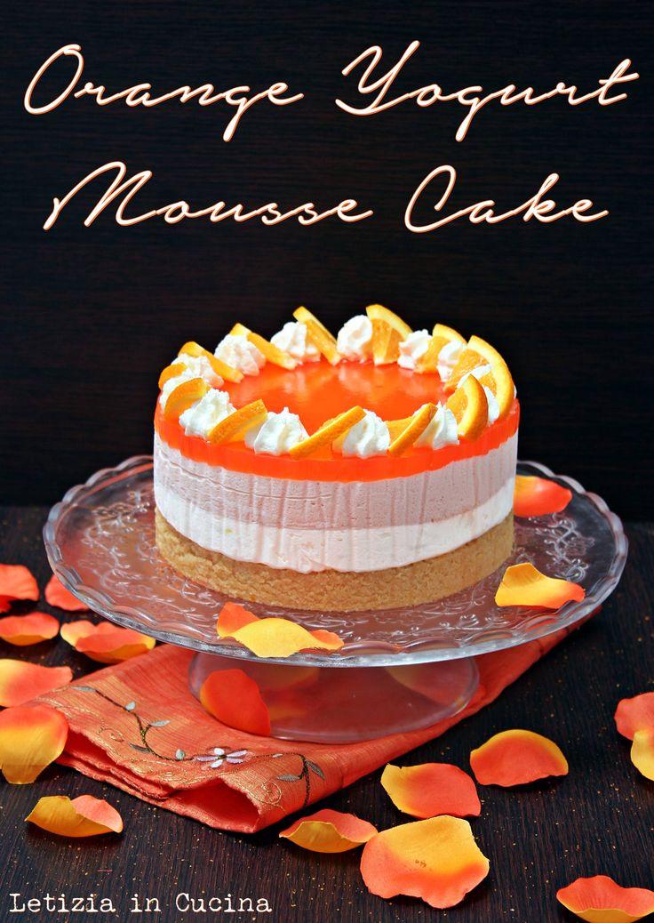 Yogurt Mousse cake all'arancia - Orange Yogurt Mousse Cake
