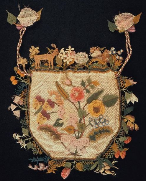 purse made with oya embroidery, turkey, early 19th century