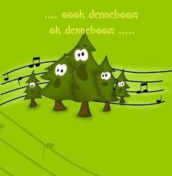 Vrolijke kerstkaart met kerstboom. Grappige Cartoon-kerstkaarten. Kies een mooie kerstkaart, schrijf de tekst, en met een druk op de knop, verstuur je ze allemaal! http://www.kerstkaartensturen.nl/kerstkaarten/kerst-cartoons/