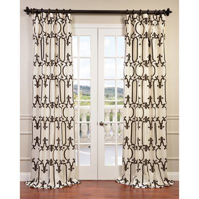 Nautica Ribbon Aqqlique Curtain panels are classic yet elegant. They will instantly dress up your space. Curtains are 100% cotton twill with contrasting ribbon trim.
