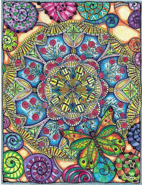 Rose & Butterfly Mandala