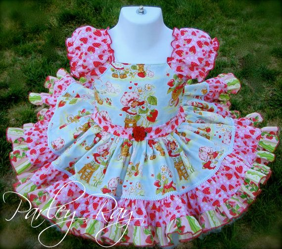 Beautiful Parley Ray Classic Strawberry Shortcake Twirling Dress Great for Birthday's