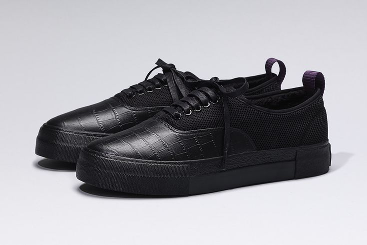 #Eytys x Ali Boulala all black leather sneakers.