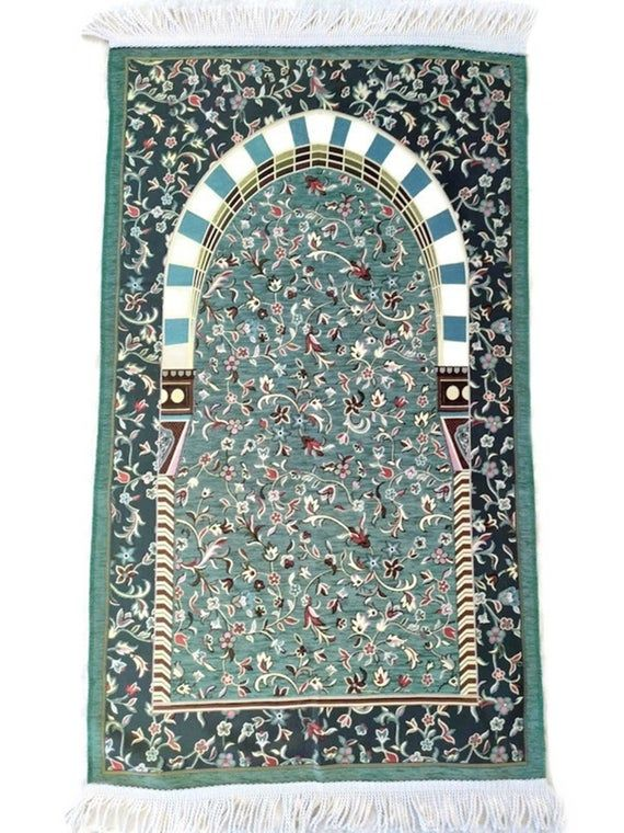 Gray Almunawara Rawda Inspired Prayer Mat Masjid An Nabawi Etsy In 2020 Prayer Rug Islamic Gifts Rugs