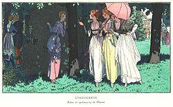 Garden party dresses designed by Madeleine Chéruit.