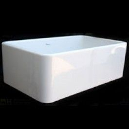 Whitehaus WH3018 Single Bowl Fireclay Farmhouse Apron Front  Kitchen Sink