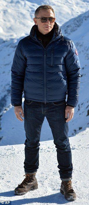Daniel Craig on the set of Spectre