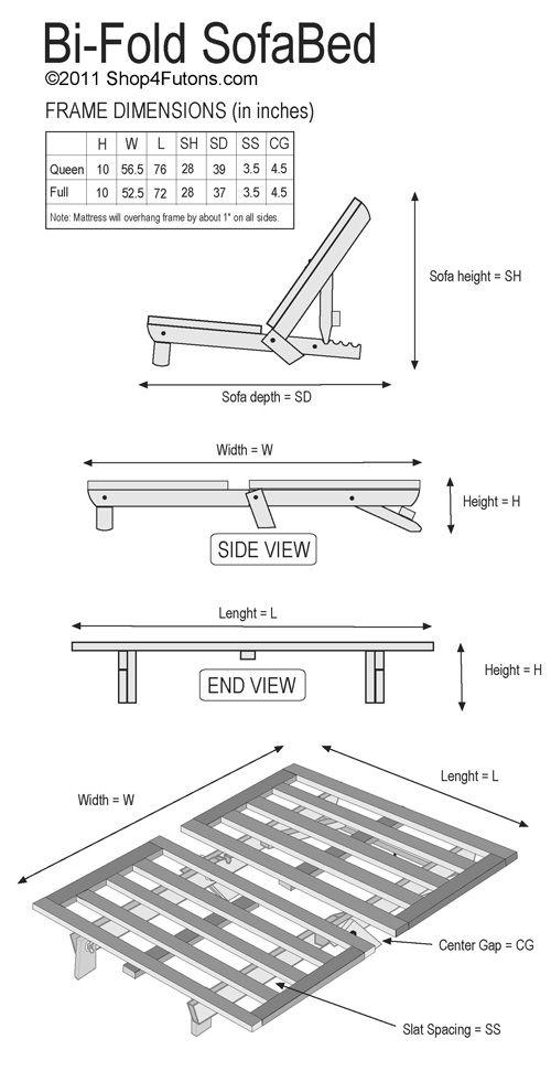 Futon Couch: Shop Bi-Fold Sofa Beds Futon Couch, Frame : Shop4Futons.com