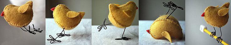 пасхальный цыпленок из фетра (13)