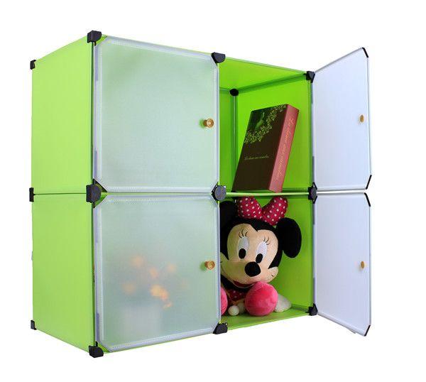 Furniture bedroom decorative diy portable closets design kids clothes folding wardrobe plastic shoe storage cabinet