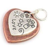 1 heart lovre charm charms 9287