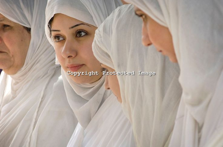Iraqi Mandean Christian Bride during baptism ceremony, Damascus, Syria..Photograph by John Wreford.9th May 2010
